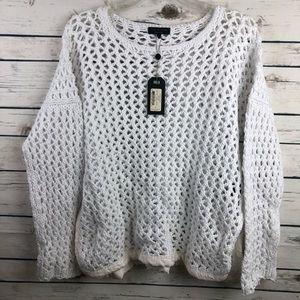 $395 NWT Rag & Bone Mallory medium sheer sweater